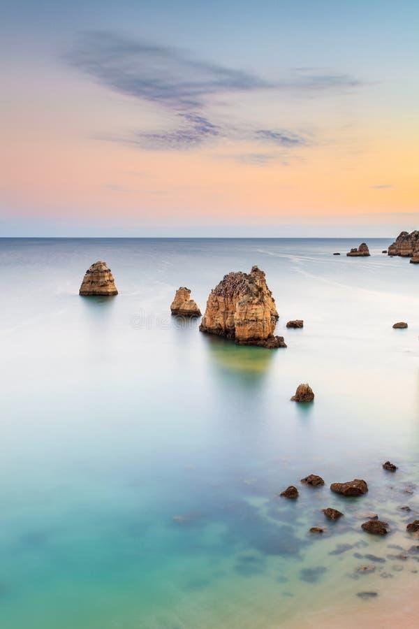 Pinhão och D Ana Beach arkivbilder