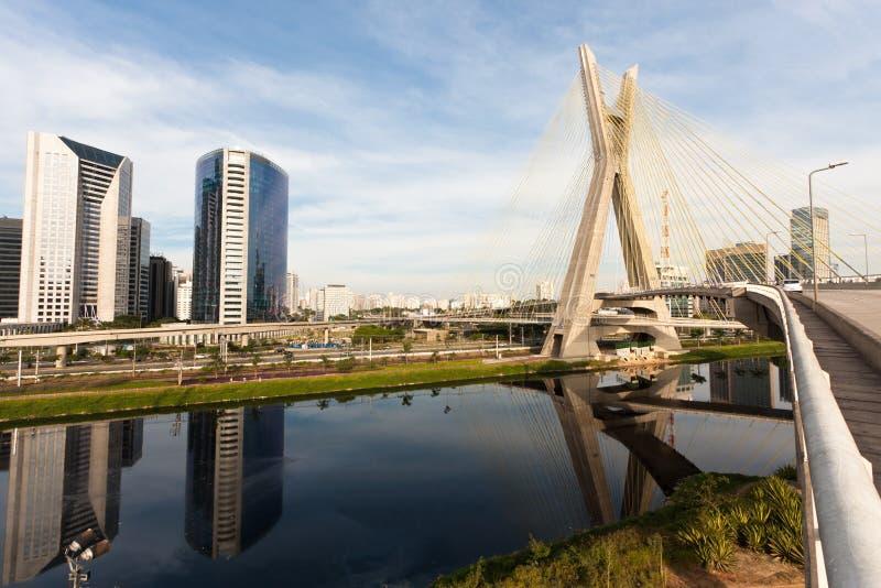 Pinheiros flod-São Paulo royaltyfri fotografi