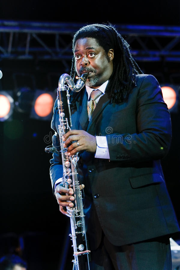 Pinho de Courtney, festival 2009 de Koktebel do jazz imagem de stock