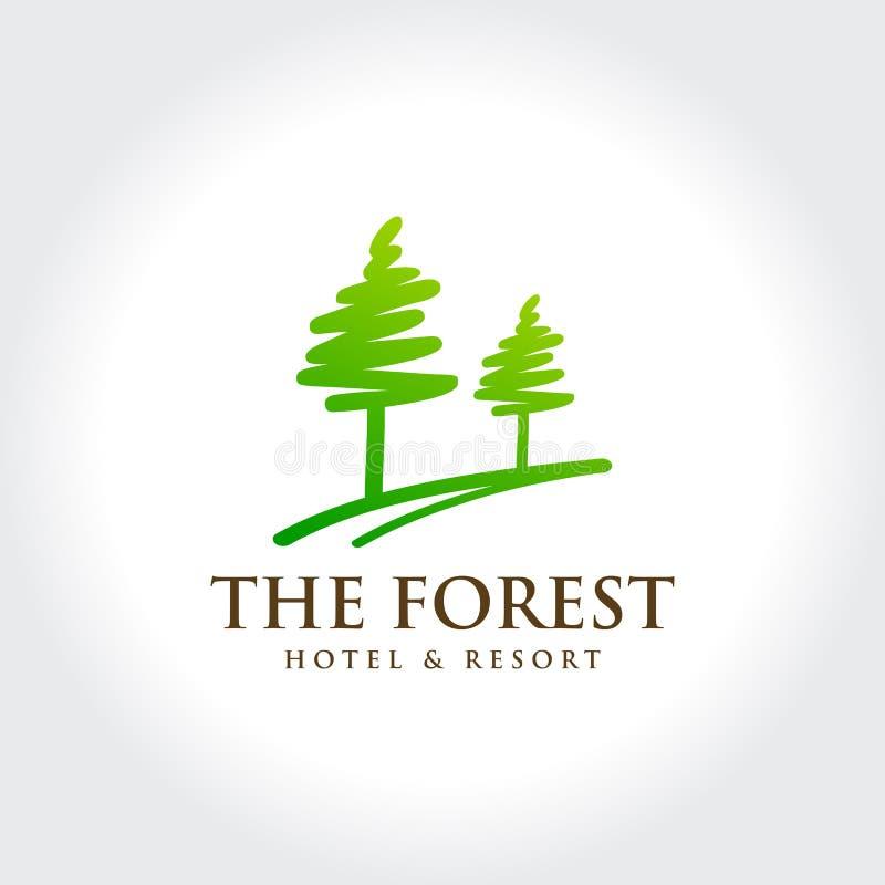 Pinho Forest Hotel e recurso ilustração do vetor