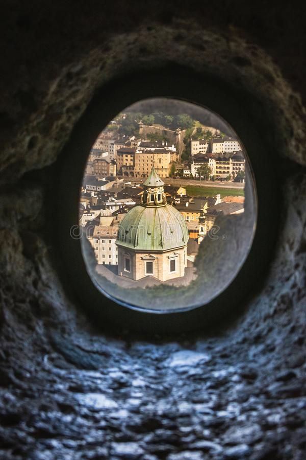 Free Pinhole View Of Salzburg Cathedral`s Dome In Salzburg City, Austria Royalty Free Stock Photo - 158971555