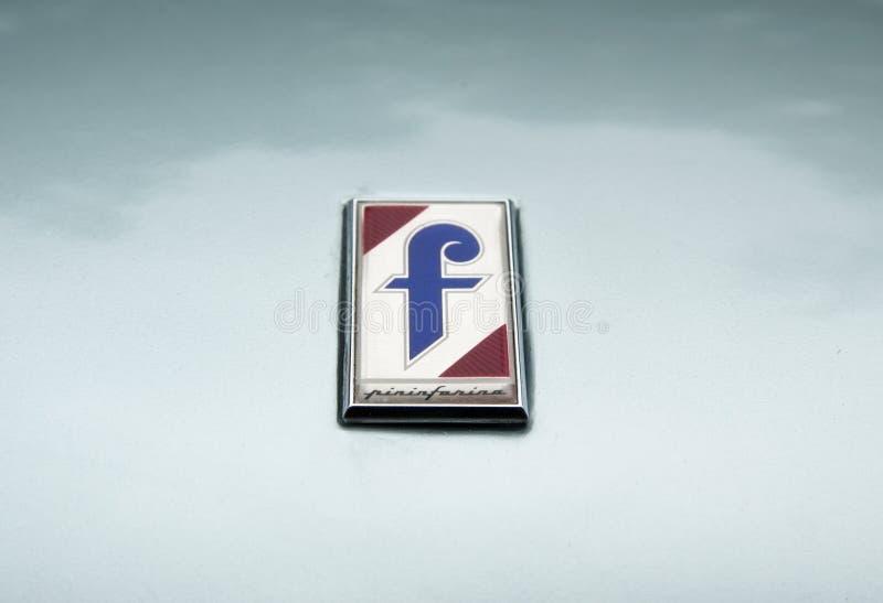 Pininfarina logoemblem royaltyfria bilder