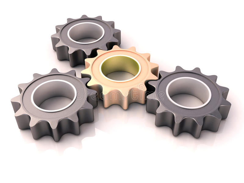 Download Pinion gear stock illustration. Image of jointing, relegating - 27026453