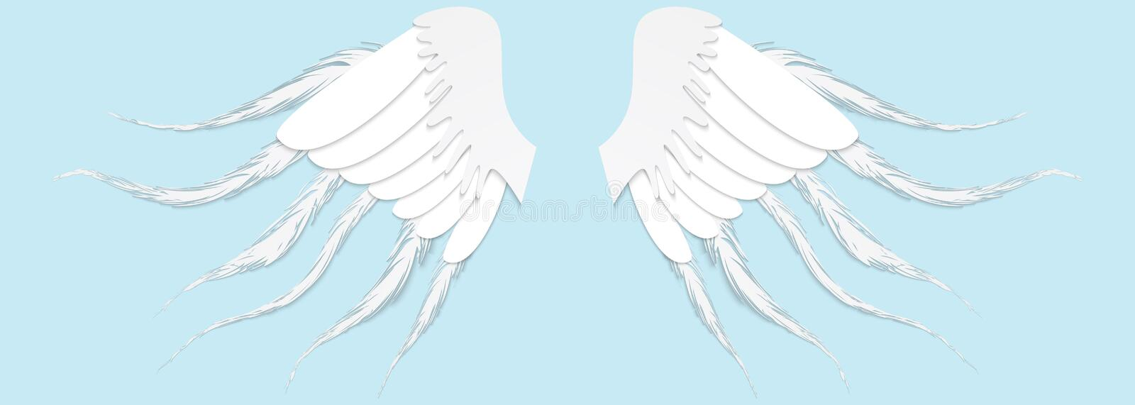 Pinion on the sprawling white. Paper concept. Vector illustration vector illustration