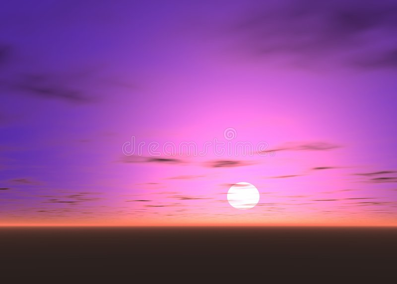 Pink 3d Sky With Black Clouds Royalty Free Stock Photography