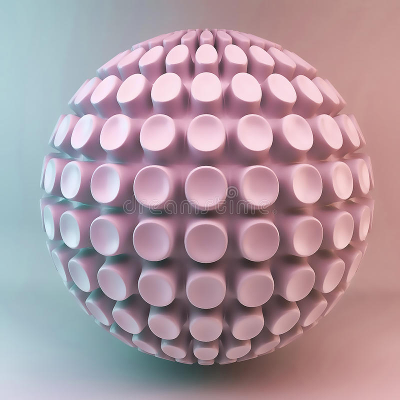 Pink 3d Sphere Abstraction Stock Image