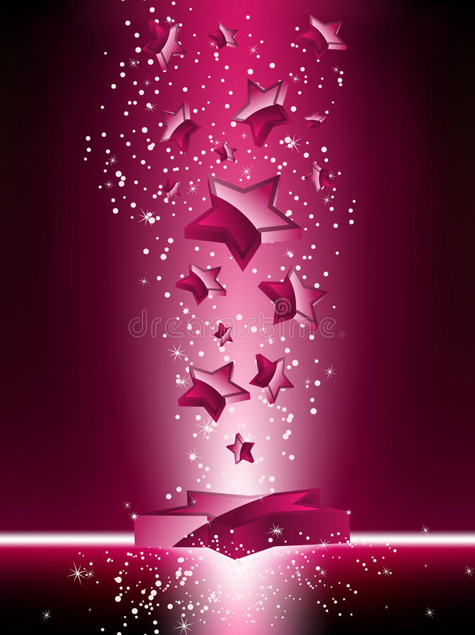 Download Pink 3D Stars Background stock vector. Image of light - 13514687