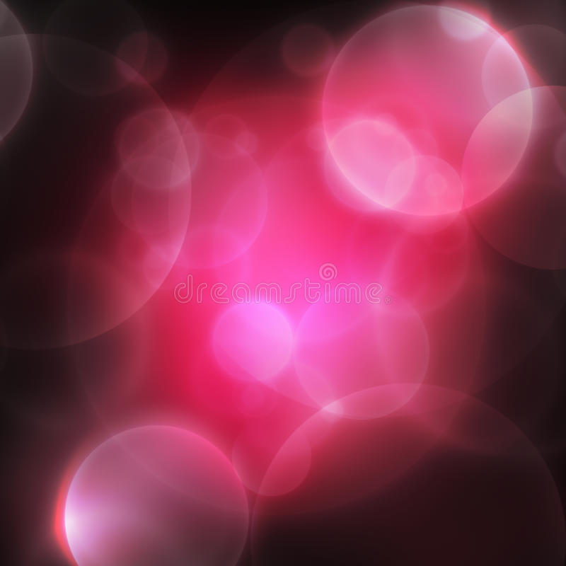 Pink abstract background. Abstract bokeh background, pink colors on dark royalty free illustration