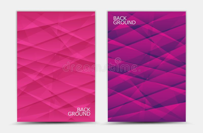 Pink abstract background vector, cover template, business flyer, web texture, graphic design stock illustration