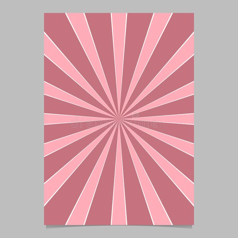 Pink abstract dynamic star burst card background template - vector brochure background design royalty free illustration