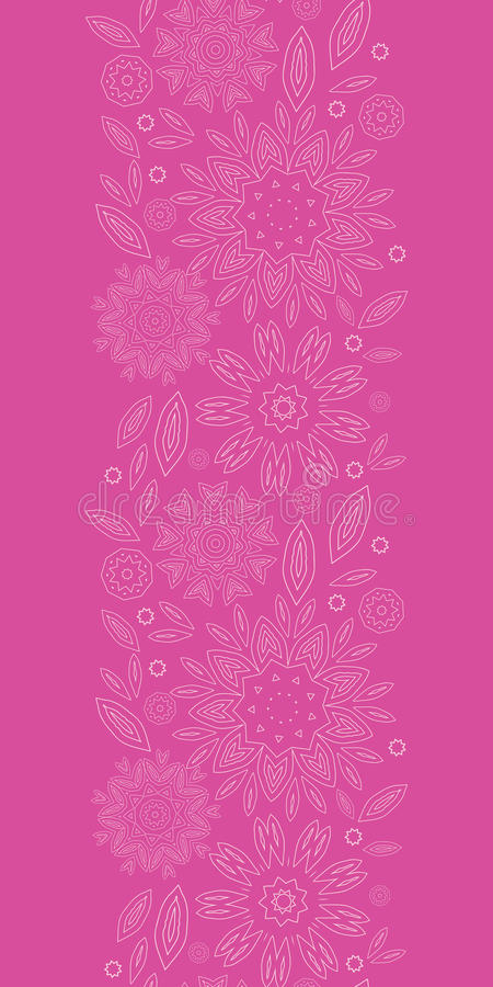Free Pink Abstract Flowers Texture Vertical Seamless Royalty Free Stock Photo - 38300295