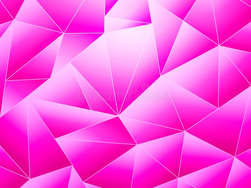 Pink abstract low poly background. Vector stock  illustration for poster royalty free stock images