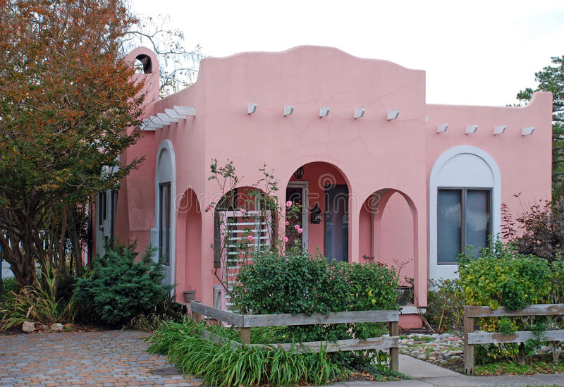 Pink Adobe House 16 royalty free stock photography