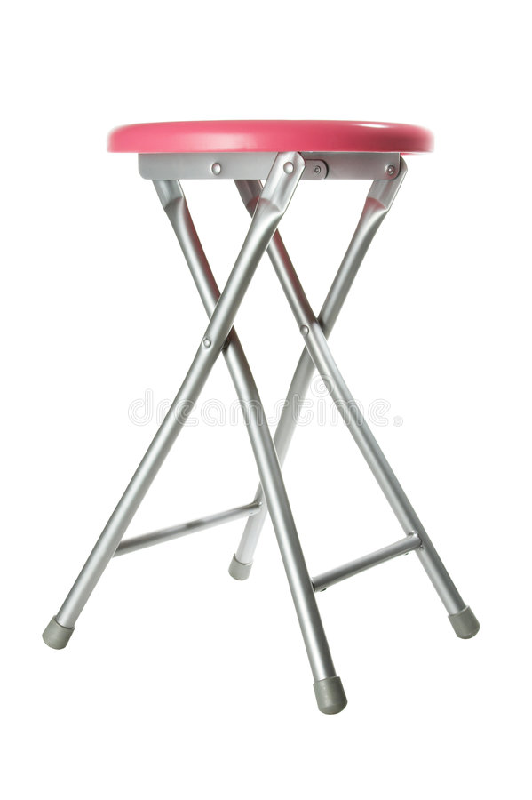 Pink aluminium stool royalty free stock image