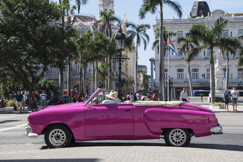 American classic car in Havana, Cuba royalty free stock photography