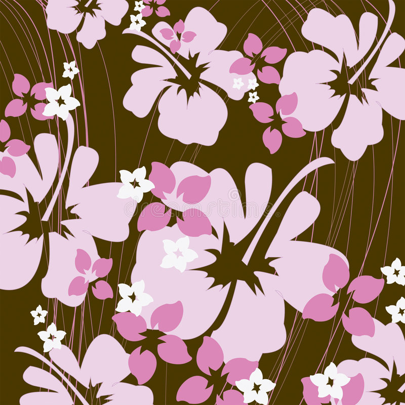 Free Pink And Brown Hibiscus Stock Image - 851961