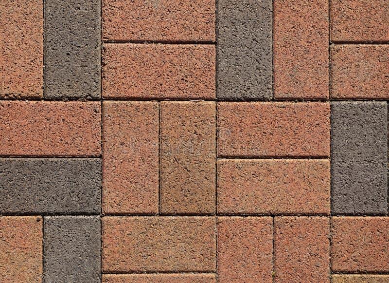 Pink ang grey block paving royalty free stock photography