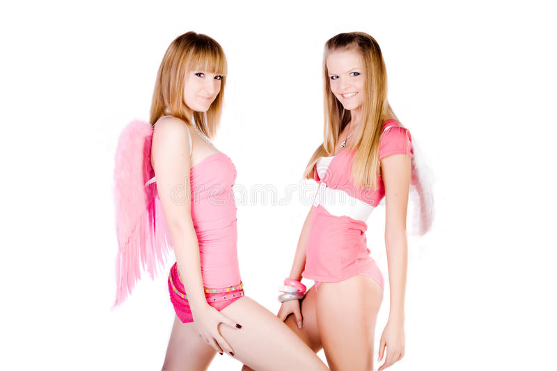 Download Pink angels stock image. Image of model, hair, attractive - 12601927