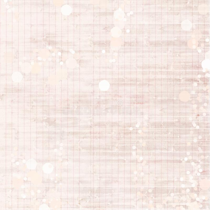 Pink Antique Vintage Shabby Chic distressed grungy ledger paper background royalty free stock images