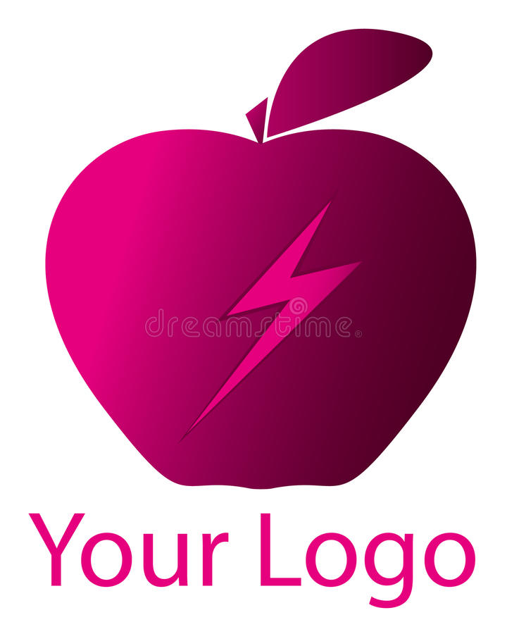 Download Pink Apple logo/eps stock vector. Image of icon, pink - 15729786