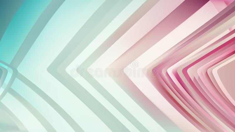 Pink Aqua Line Background Beautiful elegant Illustration graphic art design Background. Image royalty free illustration