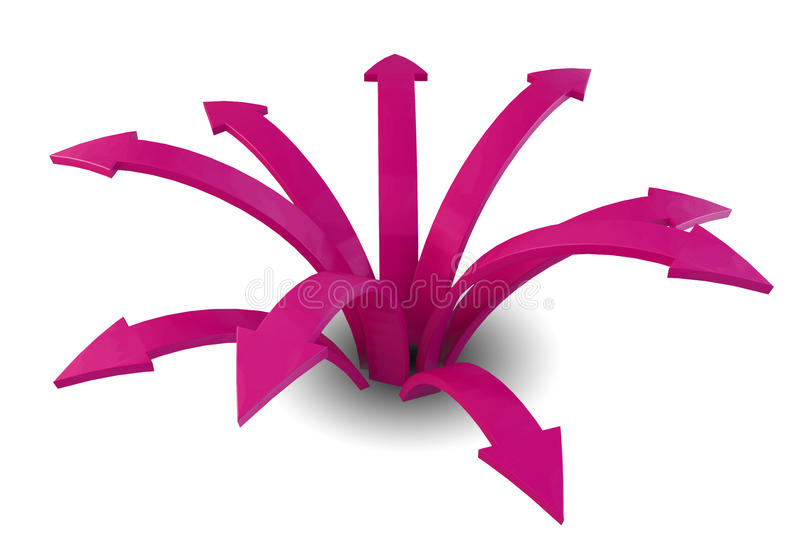 Download Pink arrows stock illustration. Image of graph, financial - 26579959