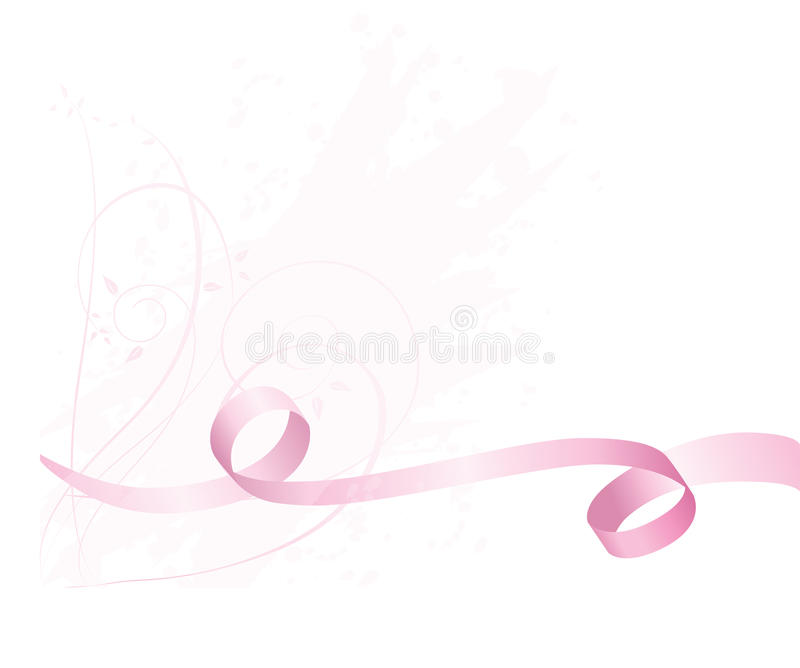 Pink Awareness ribbon background for breast cancer royalty free illustration