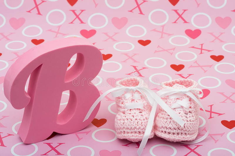 Download Pink Baby Booties stock photo. Image of gift, shower - 10192842