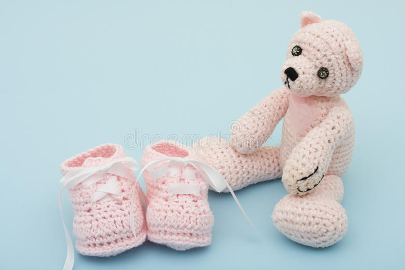 Download Pink Baby Booties stock image. Image of raise, shower - 9502069