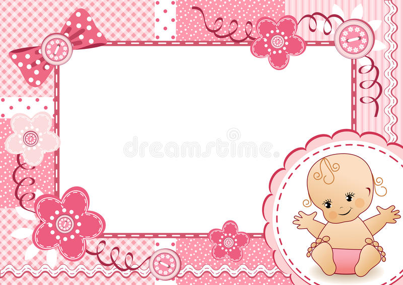 Pink baby frame. stock vector. Illustration of childhood - 27473236