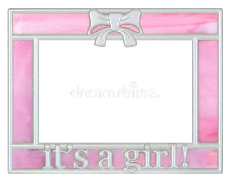 Pink Baby Girl Picture Frame royalty free stock images