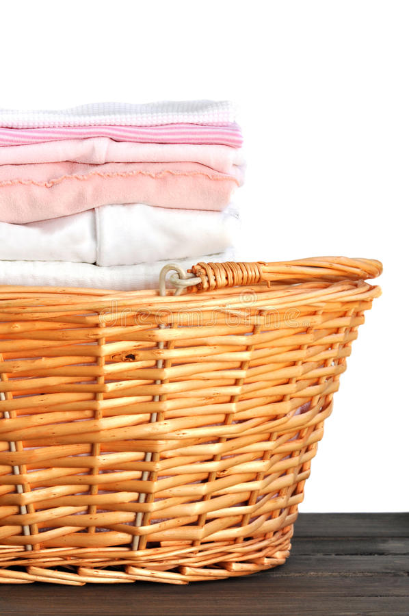 Download Pink Baby Laundry stock photo. Image of cotton, dress - 21438032