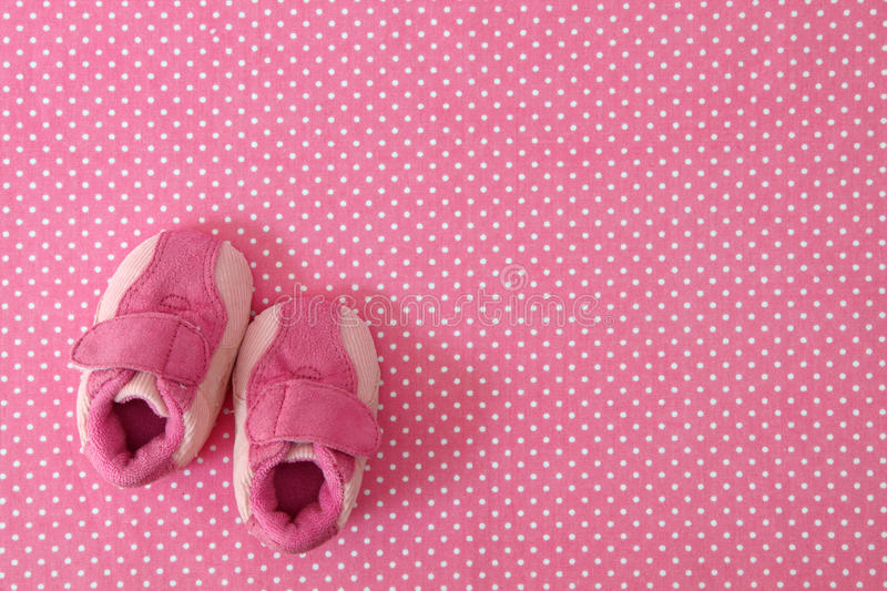 Pink Baby Shoes Stock Photography