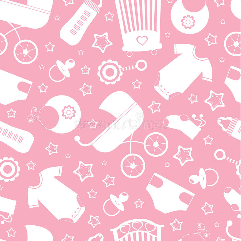 Charming Download Pink Baby Shower Background Stock Vector   Illustration Of Bottle,  Suit: 24034351