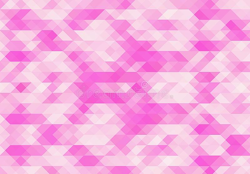 Pink background. Abstract polygonal illustration. Geometric triangle. Mosaic gradient. stock illustration