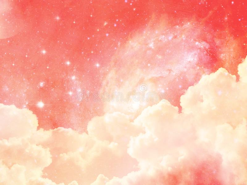 Pink background abstract texture pattern wallpaper textured stars clouds stock photo
