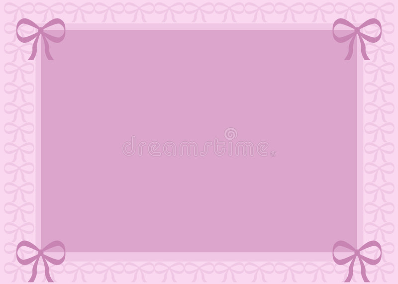 Download Pink Background with Bows stock illustration. Image of shades - 3142690
