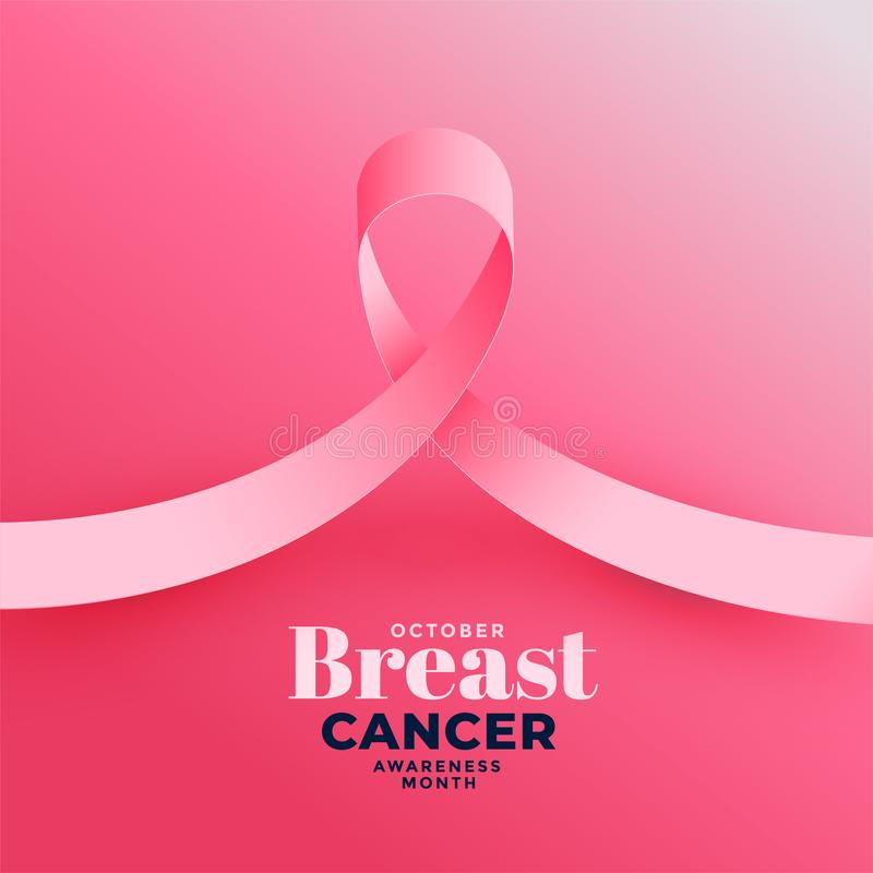 Pink background for breast cancer awareness month. Vector vector illustration