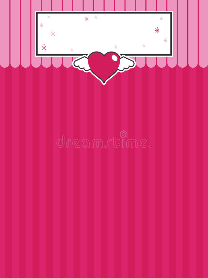 Pink background with heart vector illustration