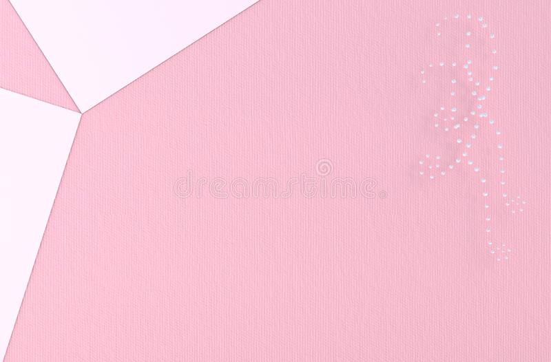Pink background of love on Valentine`s Day stock photography
