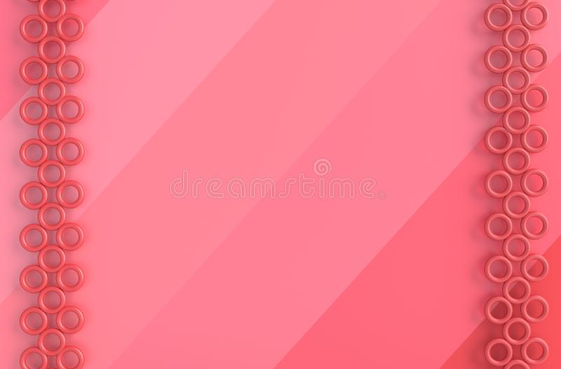 Pink background of love. on Valentine`s Day. Interior design. 3D render. royalty free stock images
