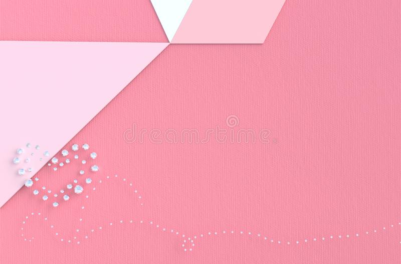 Pink background of love on Valentine`s Day royalty free stock images