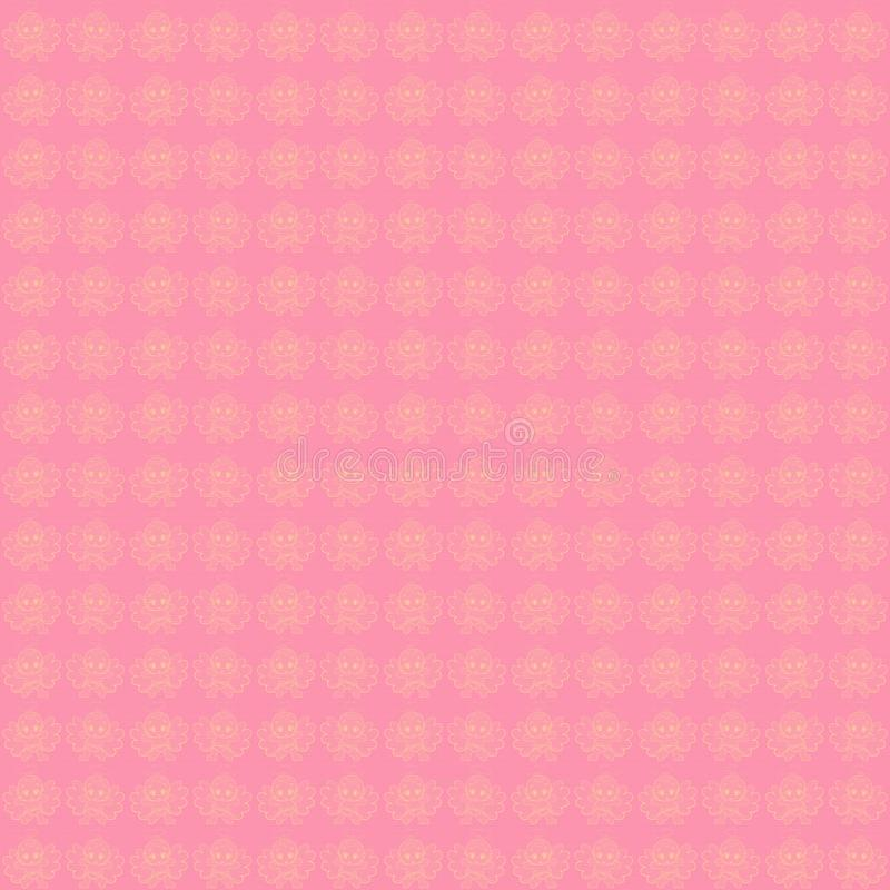Pink background with luminous little angels babies.  vector illustration