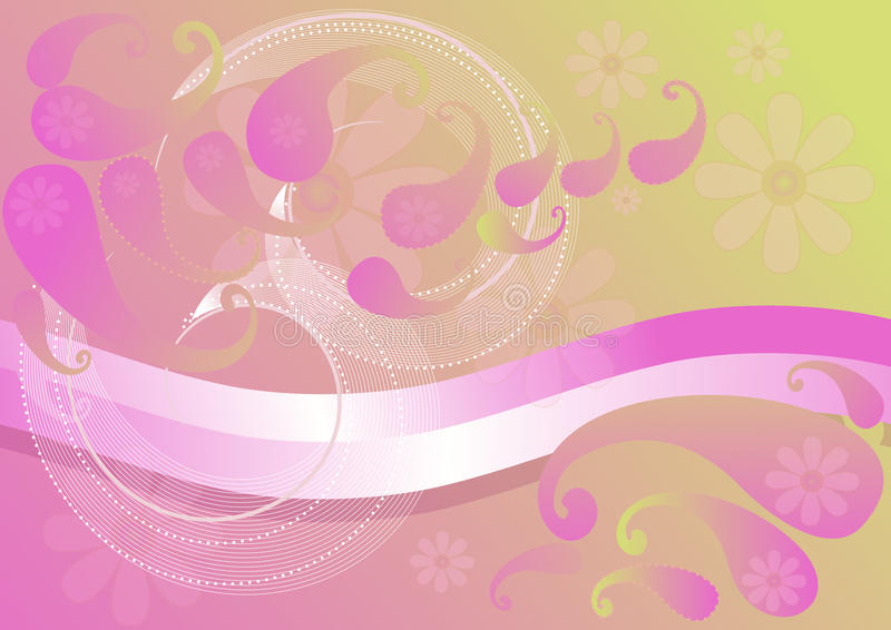 Download Pink Background With Paisley Stock Vector - Illustration: 25472861