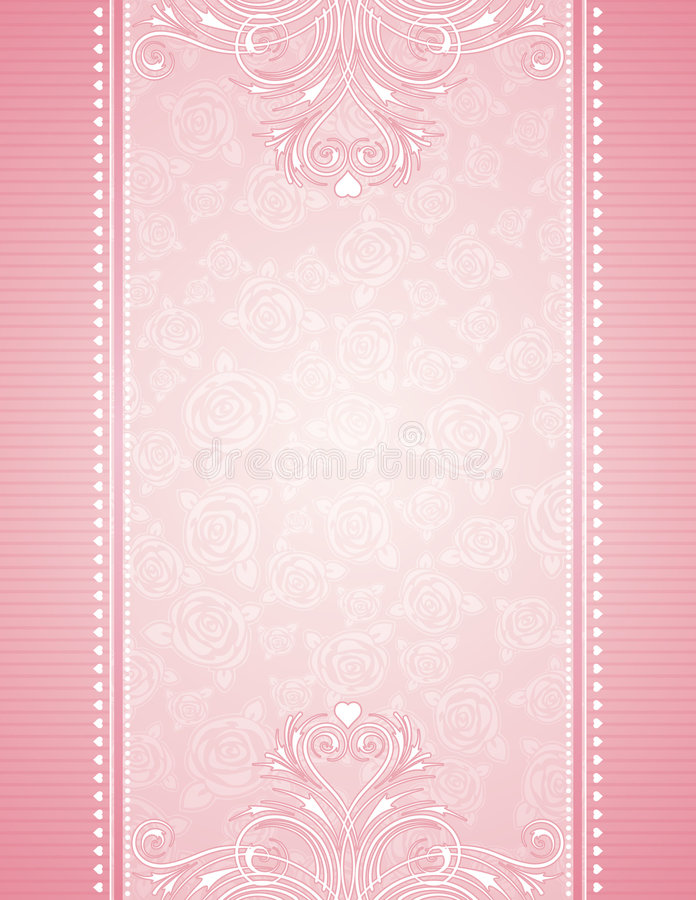 Pink background with roses royalty free illustration
