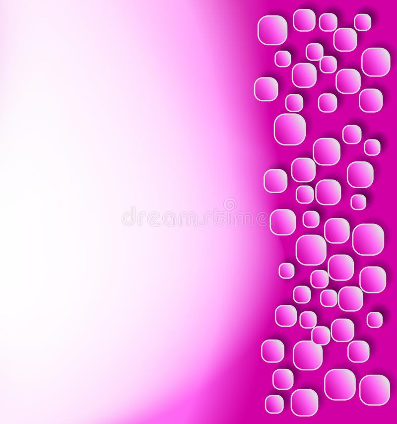 Pink background. With rounded squares stock illustration