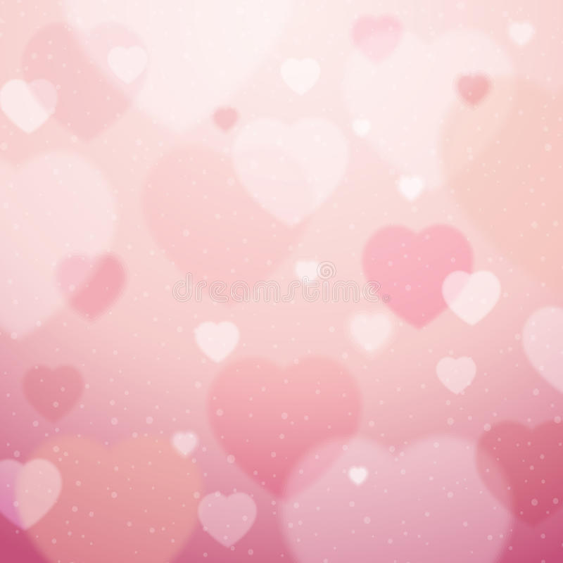 Pink background with valentine hearts , vector. Illustration royalty free illustration