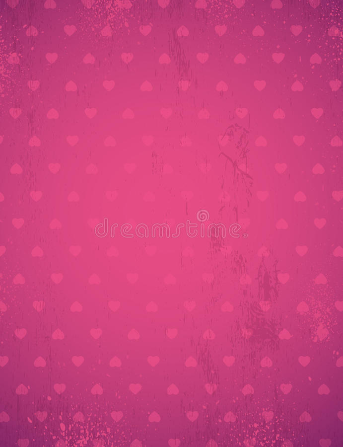 Pink background with valentine hearts, vector stock photography
