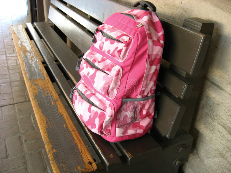 Pink Backpack stock photos