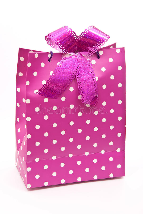 Free Pink Bag With Bow Royalty Free Stock Photos - 18325218